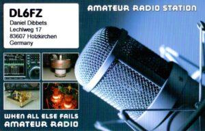 DL6FZ QSL Card